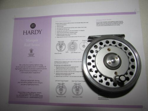 Excellent vintage HARDY Marquis 6 multiplicateur Trout Fly Fishing Reel 3.25\