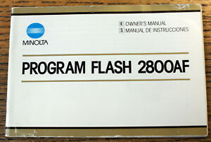 original MINOLTA PROGRAM FLASH 2800 AF flashgun guide instruction manual booklet