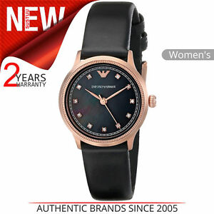 684bcdc5 Details about Emporio Armani Classic Women's Watch¦Mother of Pearl  Dial¦Leather Strap¦AR1802