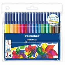 20 X Staedtler Noris Club Fieltro Punta Plumas en cartera 20-Ideal Para Adultos Para Colorear