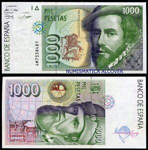 EspaÑa Spain 1000 Pesetas 1992 Hernán Cortés Pick 163 Sc / Unc Tyjol7sm-08002439-618566702