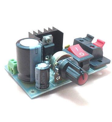 DIY kit LM317 adjustable module adjustable regulated power supply board w Switch