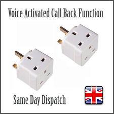 2x Voice Activated Wireless GSM Spy Bug SIM Mains Adapter Plug Listening Adaptor