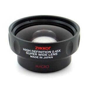 Wide-Angle-Lens-0-45X-Macro-for-Sony-HDR-PJ790V-PJ790-PJ790V-PJ710V-FDR-AX33