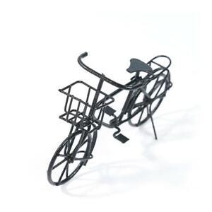 Dolls-House-Miniature-Black-Metal-Bicycle-Bike-Garden-Decor-Scale-1-12-home-R5G1