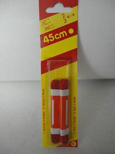 De Trous1 Lacets 2 Soit 2 750 Lot 3 Cm 45 Paires Deux Rouge OkPiZuX