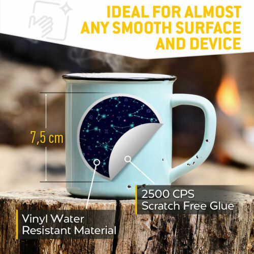 Constellation Astronomy Star Space Cool Gift #8436 2 x Vinyl Stickers 7.5cm