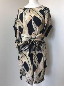 bnwt-Allsaints-Sonny-Fuji-dress-uk-8-fits-10-12-168-black-Pattern