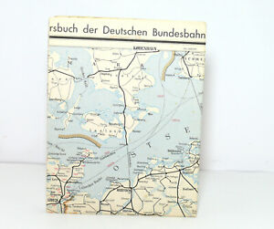Outline Map Of Country to The Offical DB Railway Guide 1956 Nordwestdeutschland