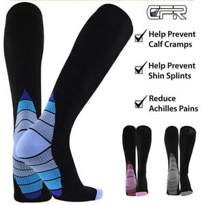 Pairs-30-40-mmhg-Knee-High-Compression-Socks-Running-Sport-Long-Stcokings-Ankle