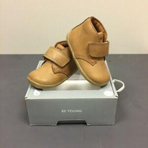 BOBUX Boys Kids SU Caramel Tan Wander Leather Boots 724806