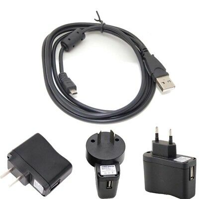 USB Cable for Nikon CoolPix S3300 Onyx Charger Adapter