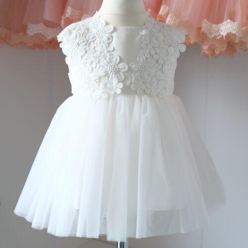 Taufkleid Festkleid Baby Blumenmädchen Tüll Gr.62-80 BM25-W