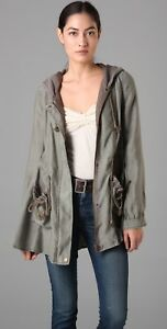 NWOT-Free-People-Full-Sweep-Hooded-Anorak-Parka-Jacket-Army-Green-L-228-Rare