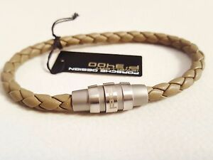 porsche design herren magnet armband armreifen leder mit. Black Bedroom Furniture Sets. Home Design Ideas