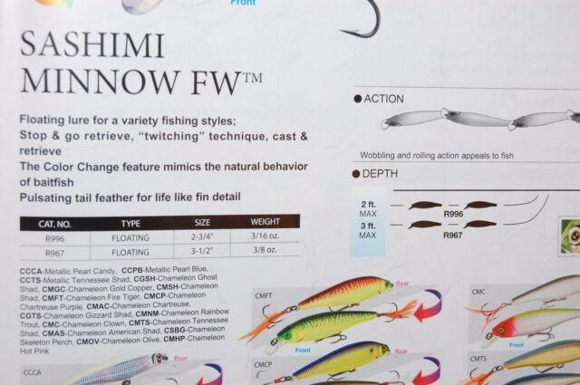 "Yo Zuri Sashimi Jerkbait Floating 3 1//2/"" 3//8oz r967-CCCA METALLIC PEARL Candy"