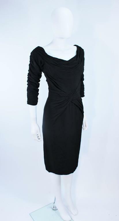 CEIL CHAPMAN Black Gathered Cocktail Dress Size 4… - image 5