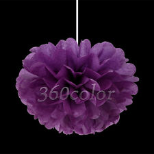 "6""/8""/10""/15"" Tissue Paper Pom Poms Flower Ball Wedding Party Bridal Decorations"