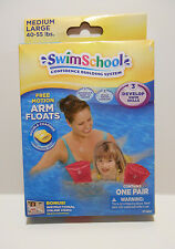 Swim School Confidence Building System Arm Floats M/L 40-55lbs Pink - NEW
