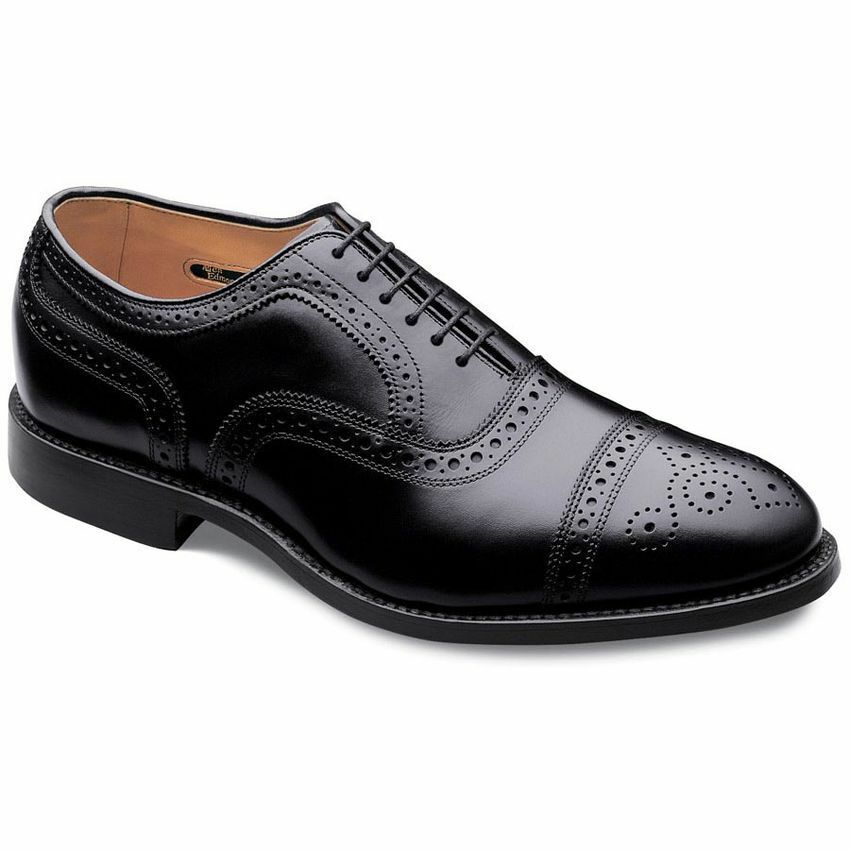 Manofatto Mens Leather scarpe oxford scarpe da abito Cap  -toe nero scarpe  grandi offerte