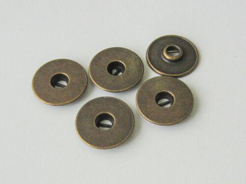 5 altmessingfarbene Metallo Bottoni 2670am quasi come Jeans Bottoni Borchie o