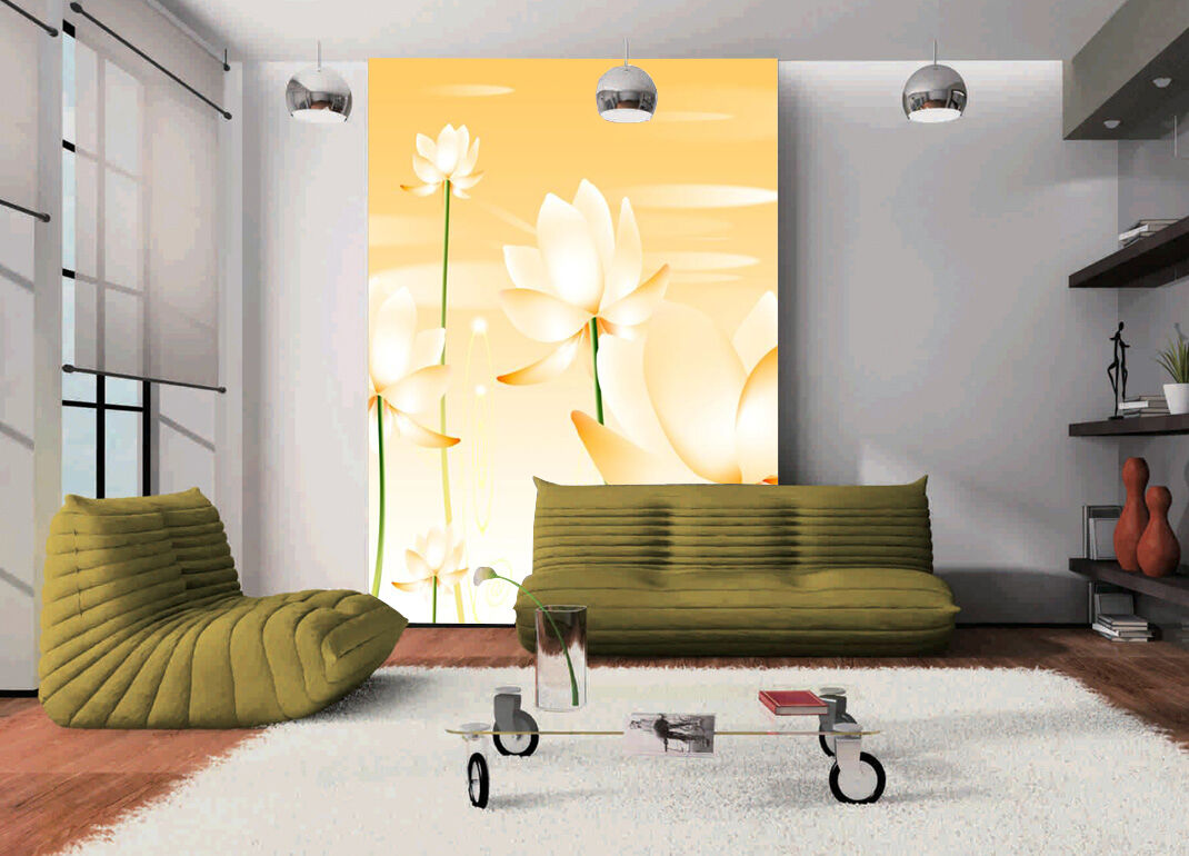3D flower gold Bloom Wall Paper wall Print Decal Wall Deco Indoor wall Mural