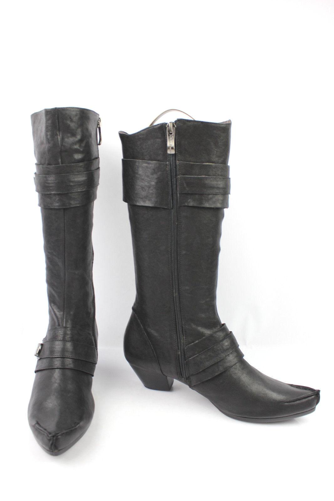 mi Stiefel COULEUR POURPRE schwarzes Leder t 39 sehr guter Zustand