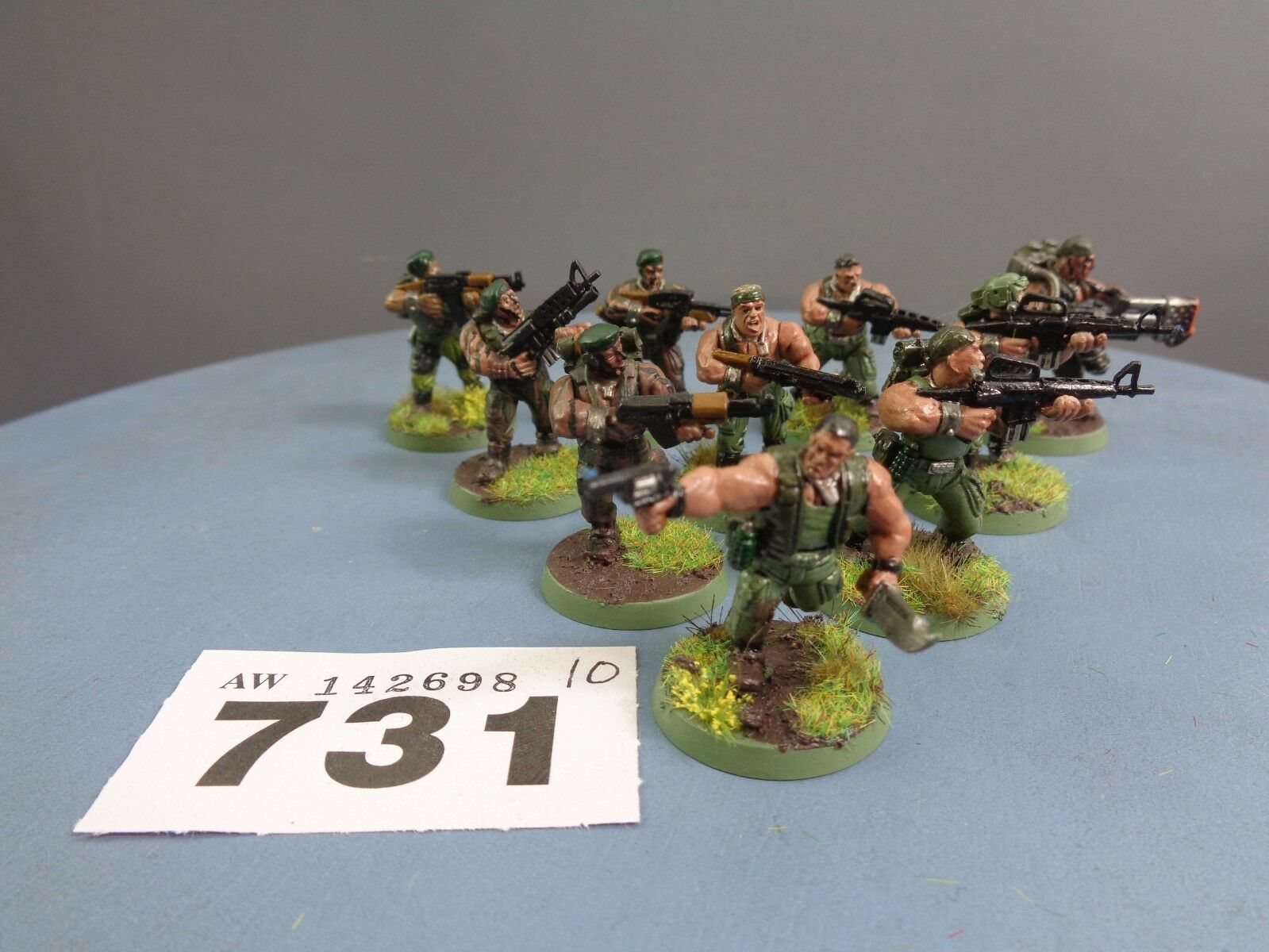 Warhammer Astra Militarum Imperial Guard Catachan Cadian Vet Guardsmen Squad 731