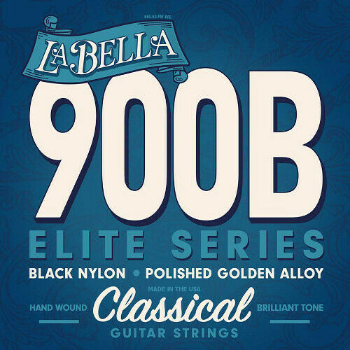 La Bella 900 Elite Serie Nylonsaiten polierte vergoldete Bässe