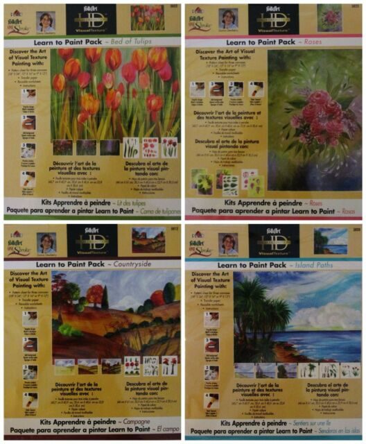Donna Dewberry One Stroke Lot 4 Learn to Paint Packs - Discontinued - New
