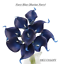 USA-10pc-bundle-quality-real-touch-calla-lily-navy-Silver-Burgundy-plum-60-color thumbnail 45