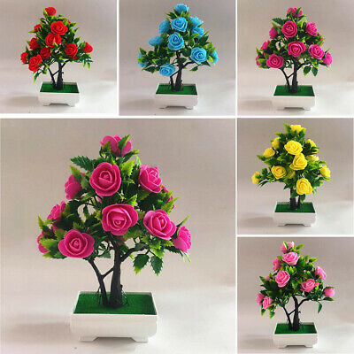 Artificial Fake Flower Potted Plant Tree Bonsai Wedding Party Home Garden Decor