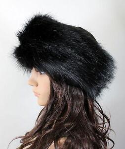 New Women Russian Thick Fluffy Fox FAUX Fur Headband Hat Winter ... 239a0a11c6f5