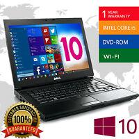 Dell Laptop Latitude Core 2 Duo 2.4Ghz 4GB 160GB DVDRW Windows 10 WiFi Notebook