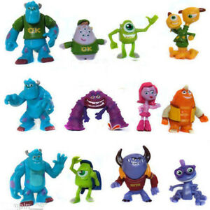 12-PCS-Monsters-Inc-Monsters-University-Mike-Sully-Action-Figure-Toy-Loose