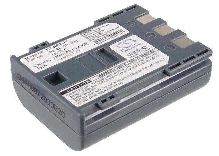 Premium Batería para Canon Zr900 Zr400 Md111 Bp-2l13 Mvx200i Mv850i Fvm200