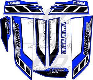 yamaha banshee full graphics kit THICK AND HIGH GLOSS