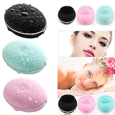 Face Skin Cleaning Electric Sonic Massager Scrubber Facial Silicon Brush Cleaner