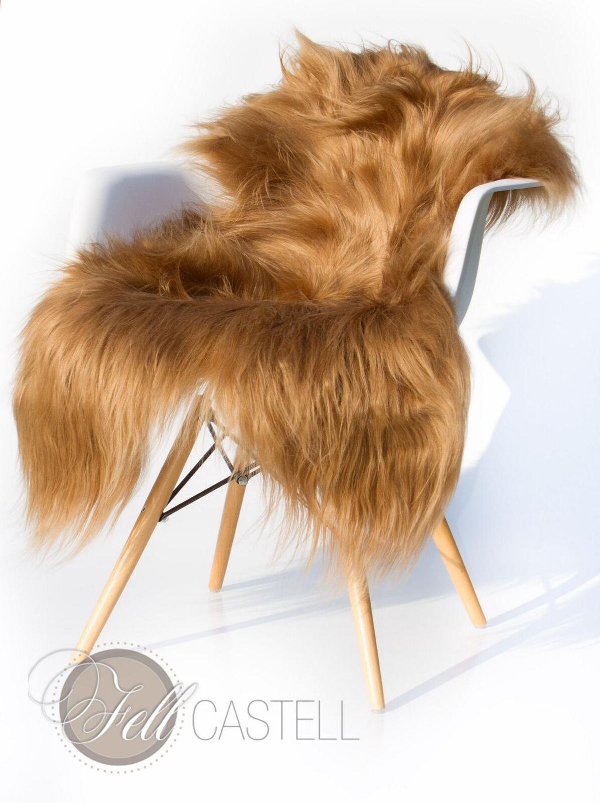 Islanda PECORA MarroneeE tinti Agnello pelosa lungo 110 x 55 cm