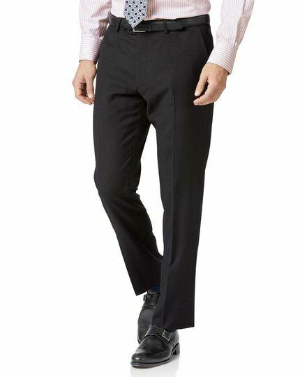 NWT- CHARLES TYRWHITT Men's Charcoal Slim Fit Twill business pants 34 x 32