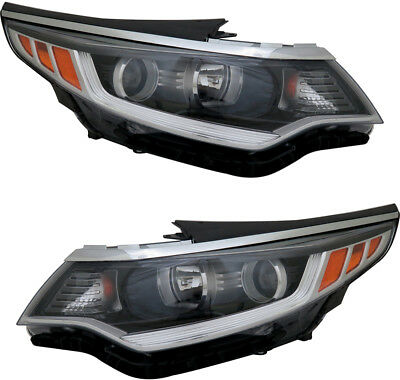 Headlight Assembly w//o DRL Right Passenger Side for 16-18 Kia Optima USA Built