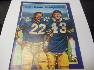 1981-GEORGIA-TECH-VS-NOTRE-DAME-NCAA-FOOTBALL-PROGRAM-NOTRE-DAME-STADIUM-RARE