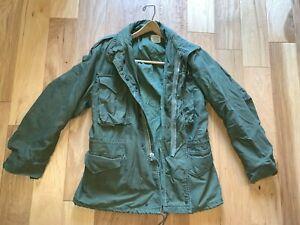 NAMED-US-Army-M65-coat-Cold-Weather-Field-Hood-MEDIUM-REGULAR-Vietnam-Era-1969