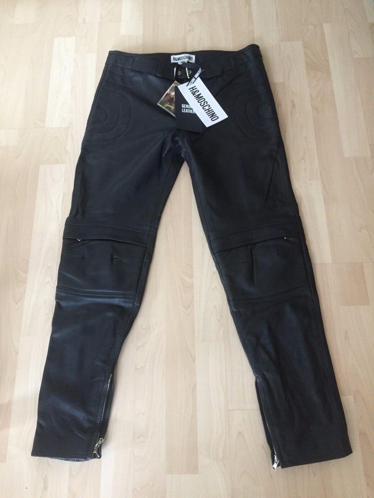 MOSCHINO H&MOSCHINO Leder Hose Pants Leather Herren men EUR Gr. 50 Größe US 34R
