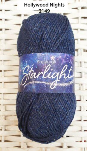 Stylecraft Starlight 100G Brillante Tejer /& hilo de ganchillo