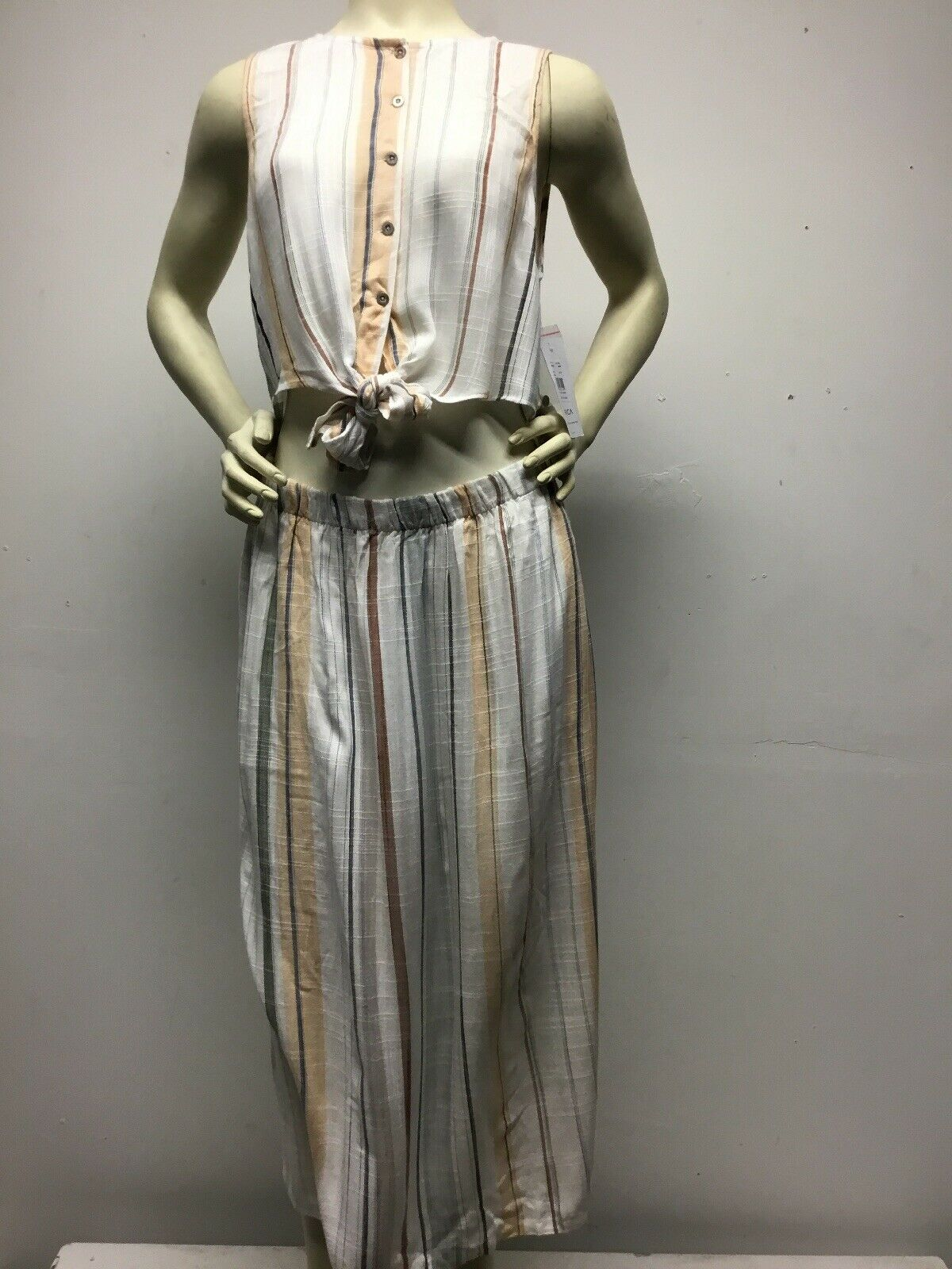 Femme RVCA Arizona Ajustée Midi Robe Taille L Neuf avec étiquettes