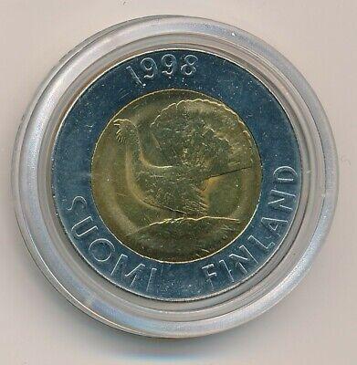 Capercaillie Finland 1997 Bi-metallic 10 mk Markkaa Coin Bird 10 Mark