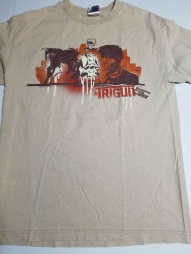Vintage 2005 Trigun Anime Shirt Size M Vash Beige