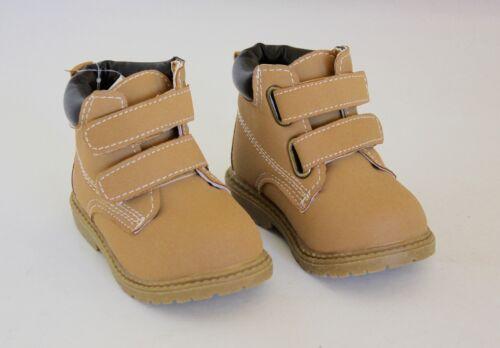 Koala Kids Toddler Boy Boots 3T Brown Tan Slip-On Soft Touch Close Hiking Tread