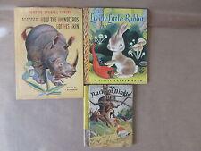 3 Kids Books Ducks of Dingle Dell How the Rhinoceros Got His Skin Little Rabbit
